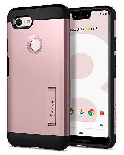 Spigen Tough Armor, Google Pixel 3 XL Hülle, F20CS25025 Stoßabweisende Doppelte Schutzschicht Handyhülle für Extrem Fallschutz Schutzhülle Case (Rose Gold)