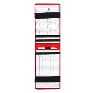 Golf Counter Karte Golf Score Counter Zubehör PU-Leder-Etui mit Scorecards und Bleistift