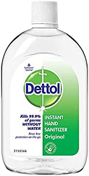 Dettol Original Germ Protection Alcohol based Hand Sanitizer Refill Bottle, 500ml