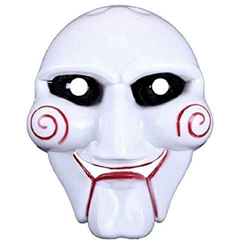 Assassin Günstige Kostüm - Inception Pro Infinite Maske für Kostüm - Verkleidung - Karneval - Halloween - Riddler - Assassine - Weiße Farbe - Erwachsene - Mann - Junge - Saw