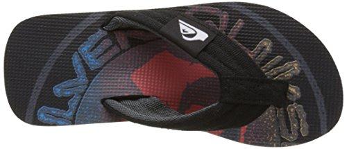 Quiksilver Molokai Layback, Tongs Garçon Multicolore (BLACK/BLACK/RED)