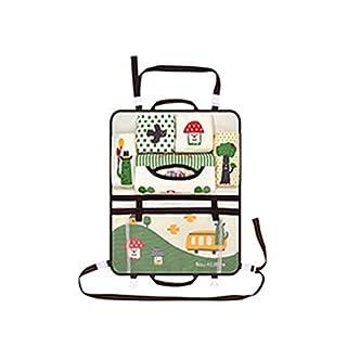 Ndier Auto Sitzrückseiten Organisator Qualität Oxford Gewebe Rücksitz Organizer Multifunktions Nette Karikatur Wearable Travel Aufbewahrungstasche mit 6 Fächern für Baby Kind Pilz Muster Autozubehör