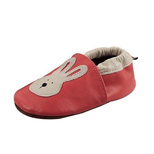 Freefisher Lauflernschuhe, Krabbelschuhe, Babyschuhe - in vielen Designs (18-24 Monate, Giraffe) Rosso (Kaninchen)