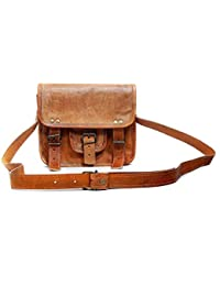Leather Bag Vintage Handmade Brown Sling Bag By Pranjals House