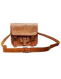 Leather Bag Vintage Handmade Brown Sling Bag By Pranjals House