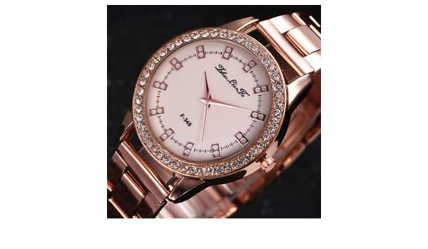 40747f88aa6 SLB Works Brand New Luxury Rose Gold Ladies Watches Women Softech Quartz  Wrist Watch Stainless steel  Amazon.in  Watches