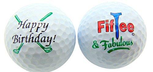 Mariposa Golf Ball (50th Birthday FifTee & Fabulous Set of 2 Golf Ball Golfer Gift Pack by Westin)