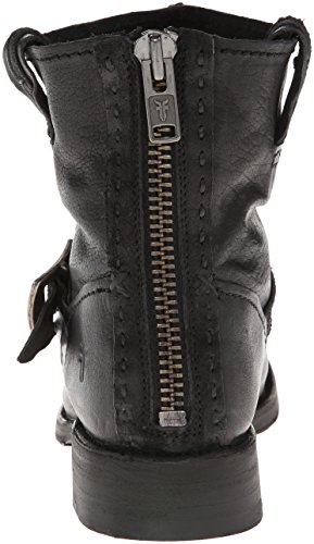 Frye Vicky Artisan Back Zip-Tufg Femmes Cuir Botte Black