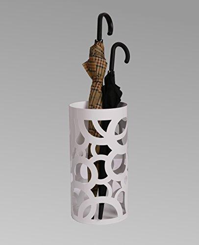 Regenschirmständer Design Circle, 49 x Ø 22,5 cm, weiß, Marke: Szagato, Made in Germany (Schirmständer, Schirmhalter, Regenschirmhalter)