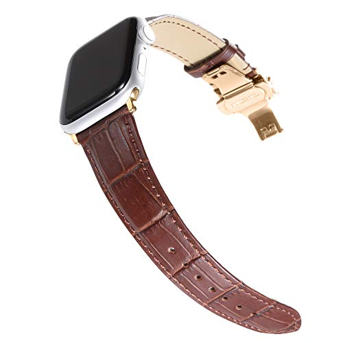 CHIMAERA Kompatibel für Apple Watch Strap Armband 38mm 42mm für iWatch & Sport & Edition Serie 1/2/3 Strap Classic Buckle Super Soft Watch Strap Strap Original Ersatzteil aus Kalbsleder