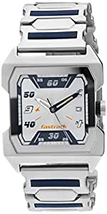 Fastrack Party Analog Silver Dial Men's Watch -NK1474SM01