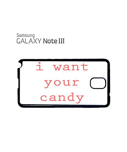 I Want Your Candy Funny Mobile Cell Phone Case Samsung Galaxy S4 Mini Black Noir