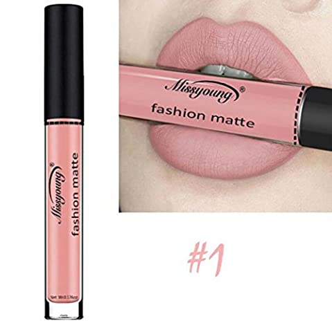 Rouge à Lèvres Matte,OverDose Lip Tint Encre à Lèvres Le Métallique Gloss à Lèvres Waterproof Lipstick (1)