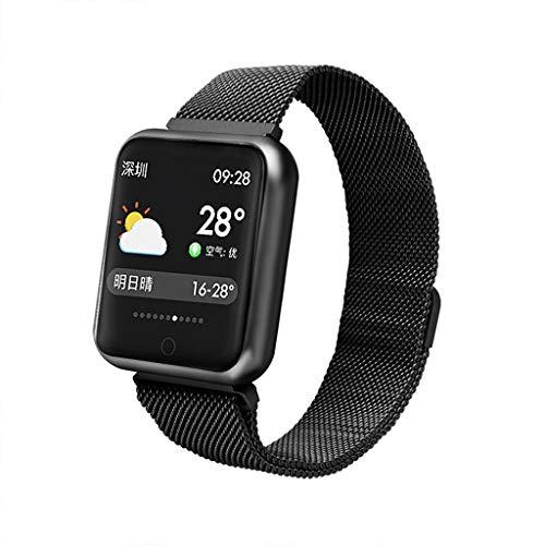LRWEY Fitness Armband mit Pulsmesser, Farbbildschirm Bluetooth Smart Watch Herzfrequenz-Blutdruckmessgerät Fitness Tracker Armband mit iOS Android Handy