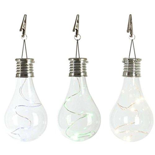 Winkey Solarlampe, wasserdicht, drehbar, LED-Glühbirne, für Garten/Camping, klar (Post 6 X 6 Kappen)