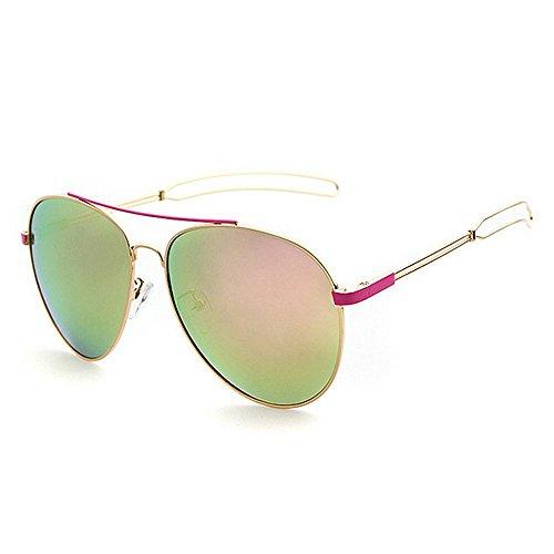Machst du Sport? Outdoor sunglasse Frau Aviator Sonnenbrille, Metallrahmen, polarisierte Fahrbrille, UV-Schutz (Color : Silver)