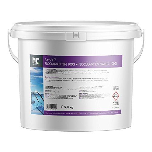 flockmittel pool Höfer Chemie 2 x 5 kg Pool Flockungsmittel Tabletten BAYZID einfache Anwendung gegen Trübungen + kristallklares Poolwasser