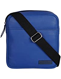 EASY-TO-USE BLUE LEATHER CROSSBODY BAG