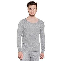Neva Men Solid Slim Fit Thermal Top Milange grey Coloured X-Large