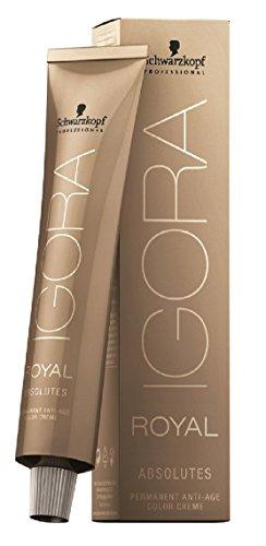 Schwarzkopf Professional Igora Royal Absolutes 7-10 mittelblond cendré natur, 1er Pack (1 x 60 ml)