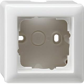 Gira 006103 Aufputz-Gehäuse mit Rahmen 1-fach Reinweiß glänzend
