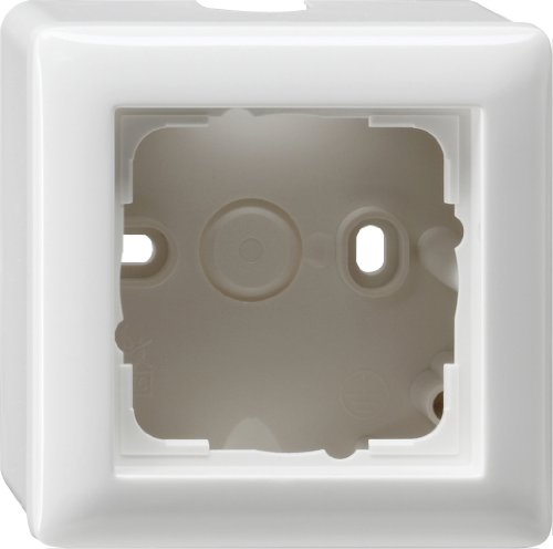 Price comparison product image GIRA 006103 Surface-Mounted Housing with Frame for 1 Socket Glossy Pure White