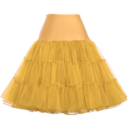Fashion Damen 50s Retro Unterrock Petticoat für ballkleider brautkleid champagner Größe XL...