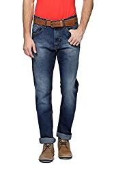 Peter England Mens Comfort Fit Pants_ EDN51507122_38_ Blue