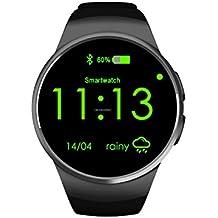 KW18 Reloj inteligente de pulsera con bluetooth, cámara remota, medidor de pulso, compatible