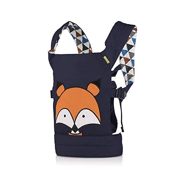 CUBY Dolls Carrier Front and Back Soft Cotton Suitable for Baby Over 18 Months, Fox - Blue (Fox - Blue) CUBY ★100% soft cotton material, gentle to the kids' skin. ★0.18 kg, 5.51 × 9.84 × 12.8 inches (L × W × H); The dimension of dolls should be smaller than 24.8 inches. ★ Padded shoulder and waist straps. 1