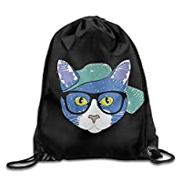 HouyunCC Drawstring Backpack Gym Bag Travel Backpack, Cute Snakes, Small Backpack for Teen Kids