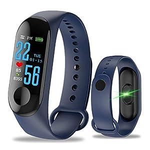 Pulsera Inteligente Fitness Tracker,M3 Pantalla táctil de Color,Impermeable,IP67,GPS, Monitor de sueño, frecuencia cardíaca, presión Arterial, para Mujeres y Hombres