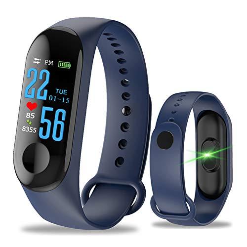 Pulsera Inteligente Fitness Tracker,M3 Pantalla táctil de Color,Impermeable,IP67,GPS, Monitor de sueño, frecuencia...