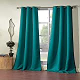 Unbekannt Blackout365 Steyna Blackout Window Curtain, 38 X 84 Inches, Turquoise