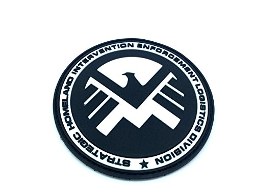 Eagle Marvel Team SHIELD AGENT Nero Patch PVC Toppa
