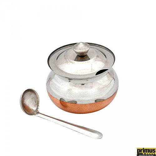 Primus Steel Primus Steel Copper Base Ghee Pot With Lid & Spoon