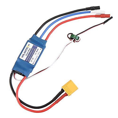 VIDOO Volantex 30A 2-4S Brushless Esc with xt60 Plug Spare Part for Phoenix V2 759-2 742-3 742-6 747-4 759-1 757-4 756-2 756-2 Rc Airplane -