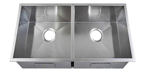 2.0 Cuadrada hecho a mano de fregadero de la cocina. Acero inoxidable cepillado para fregadero. Montaje bajo encimera. (DEDS019)