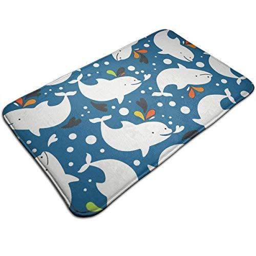 Beluga Whale Welcome Mats Entrance Mat Floor Mat Door Mat Rug Indoor/Outdoor/Front Door/Bathroom/Kitchen/Hotel Carpet 19.7 X 31.5 Inches