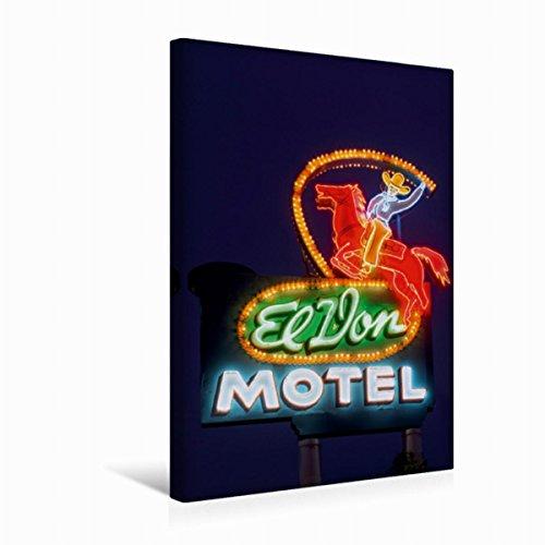 Albuquerque New Mexico (Premium Textil-Leinwand 30 cm x 45 cm hoch El Don Motel, Route 66, Albuquerque, New Mexico | Wandbild, Bild auf Keilrahmen, Fertigbild auf echter Leinwand, Leinwanddruck (CALVENDO Orte))