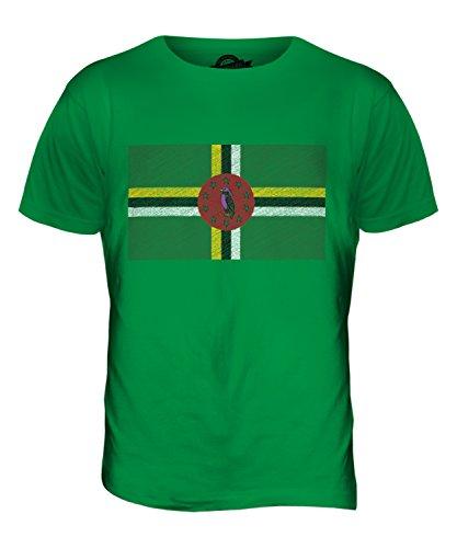 CandyMix Dominica Kritzelte Flagge Herren T Shirt Grün