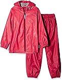 Racoon Mädchen Jacke Vigga Regenset 2teilig (Wassersäule 5000), Mehrfarbig (Virtual Pink Vir), 104