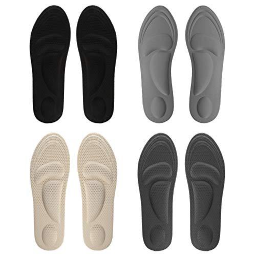 shaoyanger Schuhpads für Herren, 4D, Fußgewölbe-Unterstützung, Vorderfuß-Schwamm, elastisch, Memory-Massage-Pad, Einlegesohle, universal, Schmerzlinderung, stoßfest, atmungsaktiv, Sport