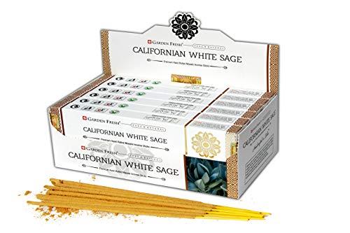 Jardin fresco : Incienso Premium Salvia Blanca de California | 12 Paquetes...