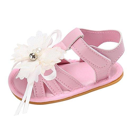manadlian Chaussures Bébé Fille Sandales Chaussures Fleur Anti-dérapant Bébé Sneakers Été