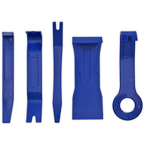 kwmobile Universal Zierleistenkeile 5in1 Set - Stabiles Demontagewerkzeug Lösewerkzeug für alle Innenverkleidungen in Auto LKW Motorrad Blau