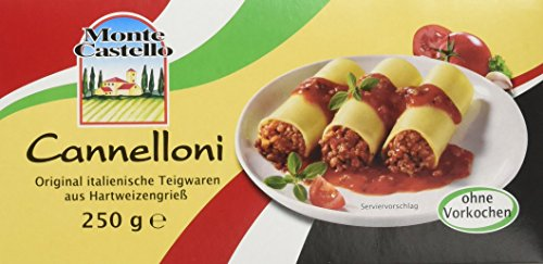 Monte Castello Cannelloni, 12er Pack (12 x 250 g Packung)