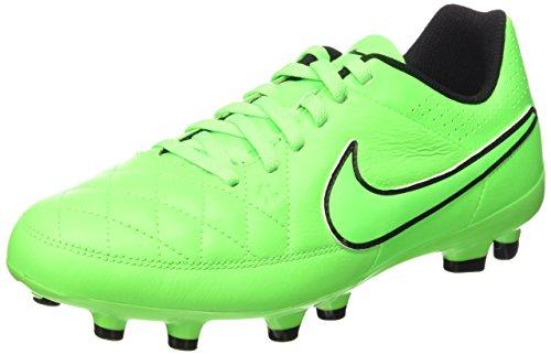 Nike Jr Tiempo Genio Leather Fg, Scarpe da Calcio Ragazzo, Green Strike/Grn Strk Blk, 38.5 EU