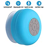 Shower Speaker Bluetooth Waterproof,BONBON Handsfree Portable Speakerphone Built-in Mic,Pairs Easily to All Bluetooth