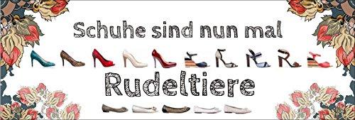 """"""" Schuhe sind nun mal Rudeltiere """" / Metallschild / Blechschild / Dekoschild / Wandschild / wetterfest / Innenbereich / Außenbereich /Motivation/ Vintage"""